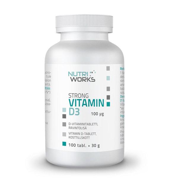 Nutri Works Strong Vitamin D3 D-vitamiini