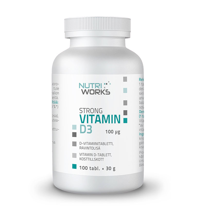 Nutri Works Strong Vitamin D3 D-vitamiini