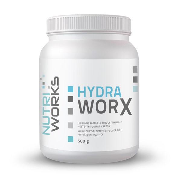 Nutri Works Hydra Worx 500g hiilihydraatti ja elektrolyyttijauhe