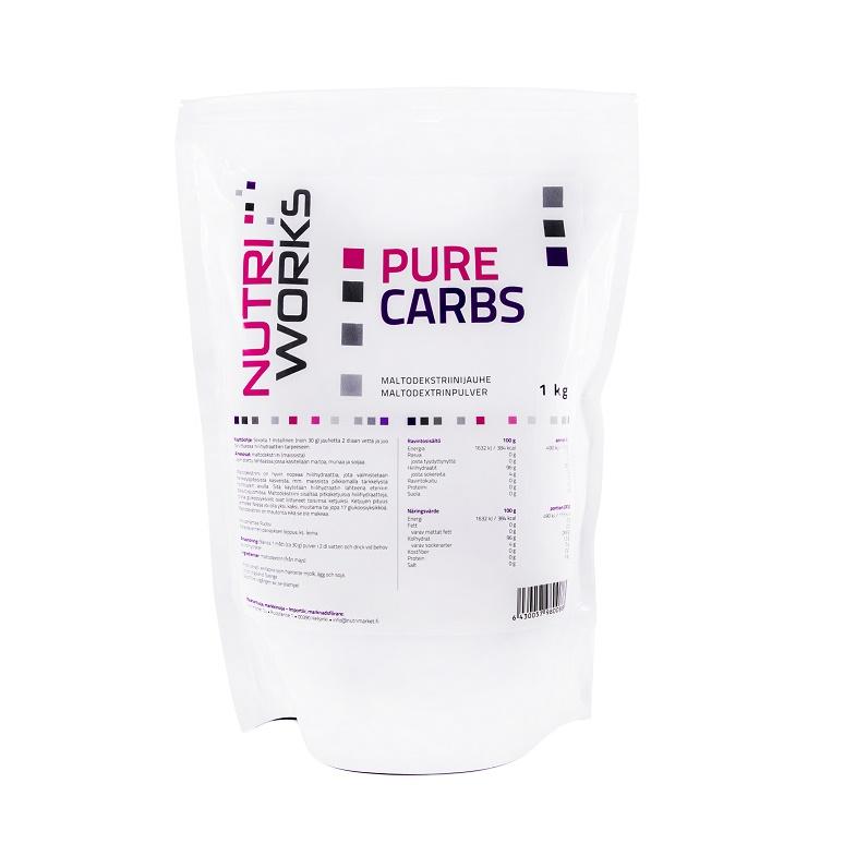 Nutri Worx Pure Carbs hiilihydraattijauhe maltodekstriinistä